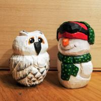 Snowman and snowowl