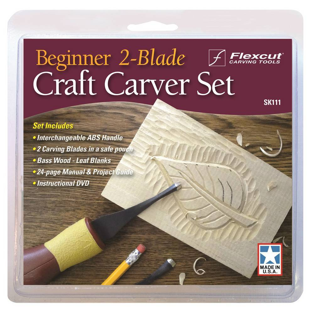 SK111 Beginner 2-Blade Craft Carver Set